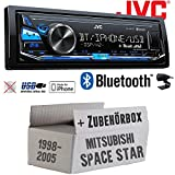 Mitsubishi Space Star - JVC KD-X341BT - Bluetooth | MP3 | USB | Android | iPhone Autoradio - Einbauset
