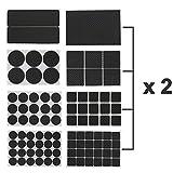 Cusfull 186 Stück Möbel Pads Gummi Möbelgleiter Anti Rutsch Selbstklebend Wasserdicht Bodenschutz Klebepads für alle Größen von Möbelfüßen