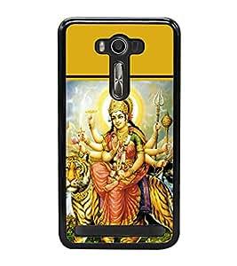 Maa Durga 2D Hard Polycarbonate Designer Back Case Cover for Asus Zenfone 2 Laser ZE500KL (5 INCHES)