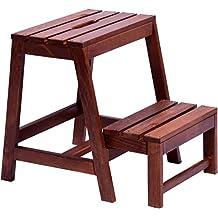 dobar 29731FSC - Taburete plegable estable de madera, 53/39x 38x 45cm, color marrón oscuro, 1pieza