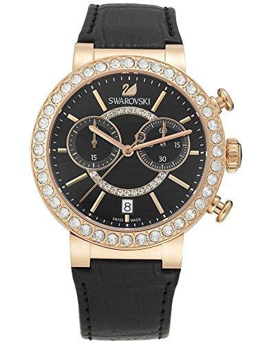 Swarovski Damen Analog Quarz Uhr mit Leder Armband 5055209
