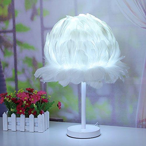 XHOPOS HOME Tischleuchte Tischlampe modern kreativ Lampe Hochzeit Geschenk Schlafzimmer Nachttischlampe dekorative Tischleuchte weiß hinaus LED KontaktTastenschalter