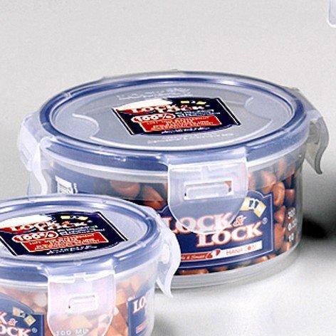 Lock & Lock Frischhaltedose, Vorratsbox, Vorratsdose, 300 ml rund Ø 114 x 55 mm, Kunststoff transparent