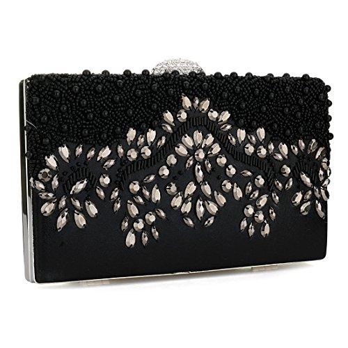 HT Evening Clutches Bags, Poschette giorno donna Black