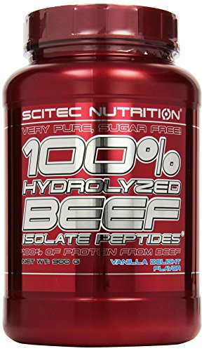 Scitec Nutrition Beef Isolat Peptides Vanille Delight, 1er Pack (1 x 900 g)