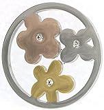 CEM Coins CS123 Coin Blumen Kristall Tricolor