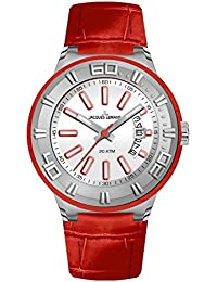 Jacques Lemans Unisex-Armbanduhr Miami Analog Quarz Leder 1-1771E