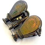Kartique Classic Marine Spy Glass Antique Royal Navy London Brass Binocular Collectibles Gift