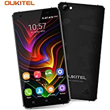 Rugged Mobile Phone, OUKITEL C5 Pro SIM Free 4G Dual SIM Smartphone 5 Inches IPS HD Screen Android 7.0 Quad Core 2GB RAM 16GB ROM 5MP + 8MP Cameras 2000mAh Battery GPS Cell Phone - Black