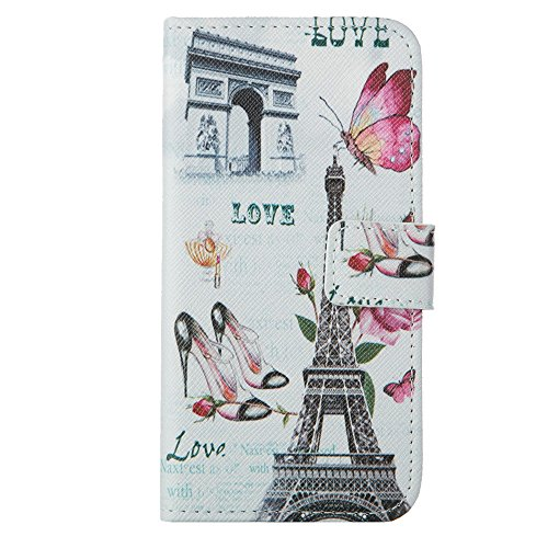 MOONCASE Étui pour Apple iPhone 6 / 6S (4.7 inch) Printing Series Coque en Cuir Portefeuille Housse de Protection à rabat Case Cover LD20 a09