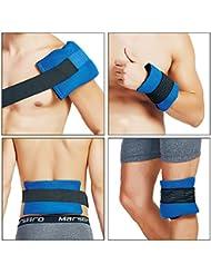 Mundo Bio Gel paquete de hielo da Flexible y suave en frío calor terapia para el alivio del dolor–Set de 2