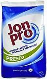 JonPro Presto è un detergente in polvere, completo, enzimatico ed esente da fosfati, indicato per l'utilizzo sulla biancheria ed il tovagliato di alberghi, ristoranti e comunità. Contiene sbiancanti ottici.
