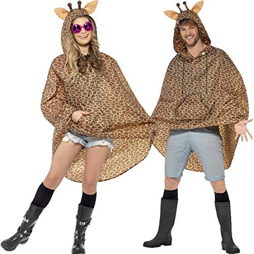 PARTY DISCOUNT NEU Party-Poncho, Giraffe, Einheitsgröße, 1 - Giraffe Kostüm Kit