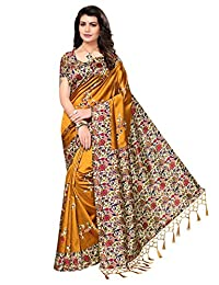 VJ Fashion Art Silk/Blended Mysore Silk Printed Women's Saree/Sari With Tassels