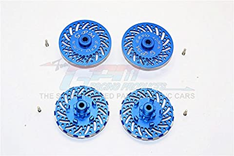 Traxxas E-Revo Brushless Edition Upgrade Pièces Aluminium Wheel Hex Claw +2mm With Brake Disk - 4Pcs Set Blue