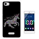 002607 - Sparkle stars Cute Unicorn Design Wiko Ridge Fab
