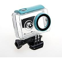 JZK® Soporte profundidad 40m carcasa impermeable con tornillo y adaptador para Xiaomi Yi acción cámara 16MP 4608x3456 1920x1080p cámara 1 Generación, azul