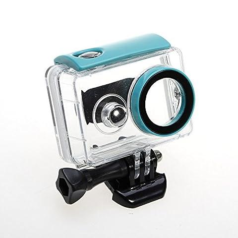 JZK® 40m sous-marine enceinte étanche professionnelle avec boulon et adaptateur de filetage pour la chambre Xiaomi Yi, bleu pour Xiaomi Yi 1