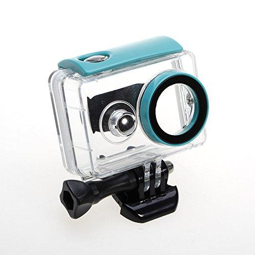 Galleria fotografica JZK® 40m subacqueo custodia professionale impermeabile con vite e adattatore per filettatura per Xiaomi Yi camera, azzurro