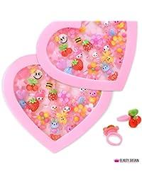 36x Anillos Luxury infantil de joyas Corazón Buzón ajustable tamaño grande Comercio