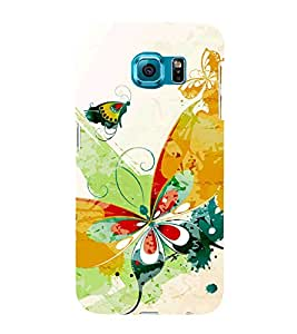 Butterfly Art 3D Hard Polycarbonate Designer Back Case Cover for Samsung Galaxy S6 Edge :: Samsung Galaxy Edge G925