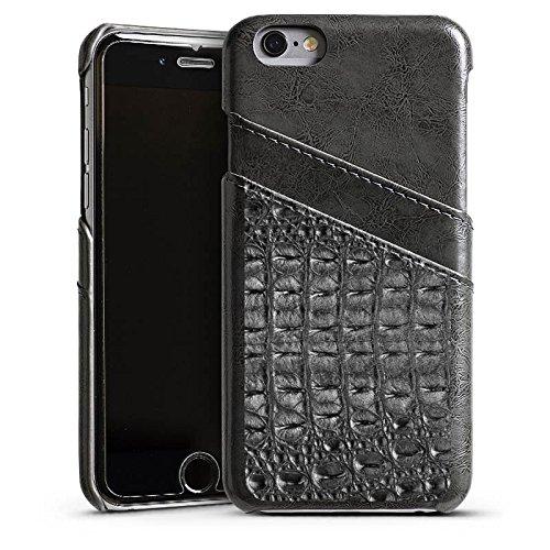 Apple iPhone 5 Housse Étui Silicone Coque Protection Look peau de crocodile Crocodile Motif Étui en cuir gris