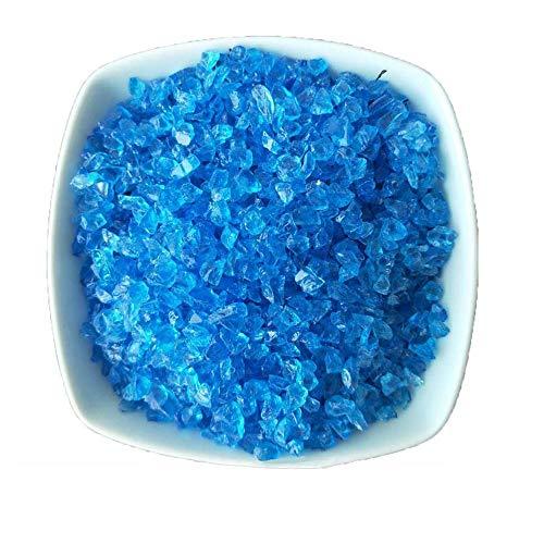 Amakunft Blauer Glassand für Aquarium, Aquarium-Sand für Bonsai-Pflanzen und Aquarium-Landschaft, Bodendekoration, eisblaue Glasperlen, perfekt für Sukkulenten und Glaswaren Vasen Dekoration (Aquarium Sand Süßwasser-blau)