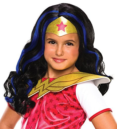 DC Super Hero Girls Wonder Woman Costume Wig Child One Size