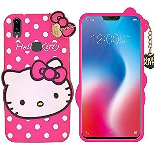 Mobiclonics Cute Cartoon Hello Kitty Back Cover For Vivo V9 V9 Youth Pink