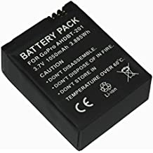 GOOP® - Batería GoPro recargable AHDBT-201 / AHDBT-301 con Infochip–(1050mAh 3.7V) 100% compatible con GoPro HD Hero 3 / Hero3Black Edition / Hero3Black Edition-Surf / Hero3Silver Edition / Hero3White Edition