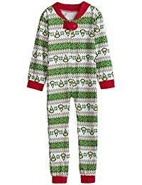 Ropa Conjunto de Pijamas Familiares de Navidad para Familia Padre Madre Niño Blusa Manga Larga Casual+ Pantalones Rayas,Traje de Ropa de Mujer Hombre Niños Gusspower