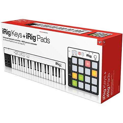 Ik Multimedia irigkeys + irigpads USB MIDI-Controller-Keyboard (schwarz)