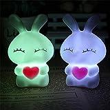 display08 Süßer Frosch LED Nachtlicht Lampe wechselnde Farben bunt Lampe Geschenk