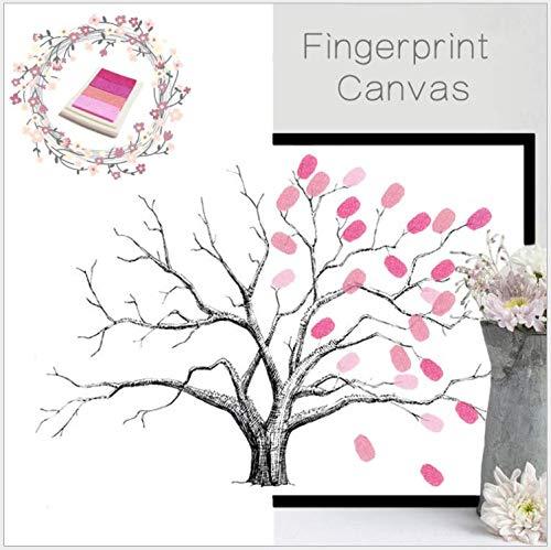 lumalt03 Wandaufkleber DIY Kreative Finger Doodle Dekoration Ölgemälde Hochzeit Geburtstag Fingerprint Anmelden Baum