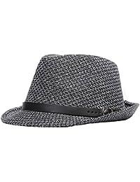 Uomini Ragazzi Moda Autunno Inverno Fibbia In Pelle Cappello Di Jazz Fedora  Trilby Cappelli c2b9ab4cde18