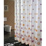 LIANJUN Cortina de baño PEVA cortina de ducha blanca impermeable Mildew espesamiento cortina de baño con ganchos Cortina de ducha antiestática ( Tamaño : 2*1.8m )