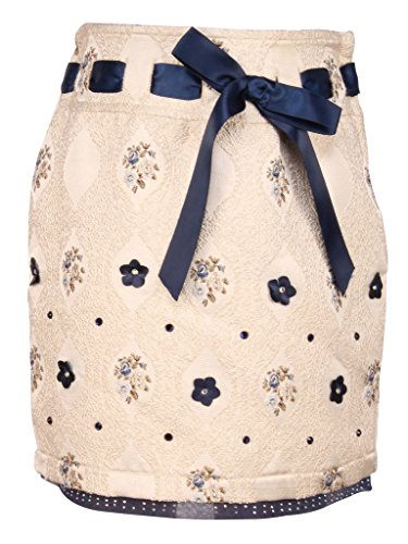 Cutecumber Girls Navy Jacquard Knee Length Skirt  available at amazon for Rs.533