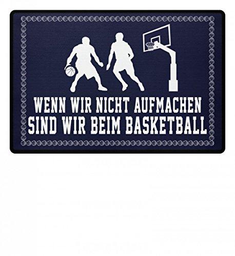 Hochwertige Fußmatte - ...sind wir beim Basketball - Geschenk Basketballer-in Basketball-Fan Ehe-Paar