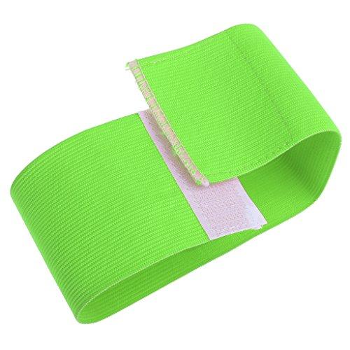 Sharplace Fußball Kapitän Armbinde, Kapitän Armband mit Klettverschluß - Grün