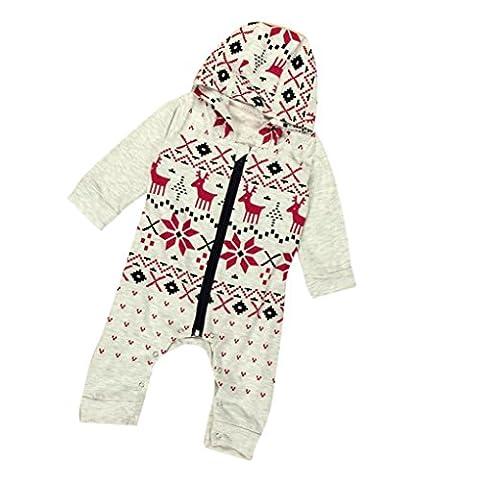 Bekleidung Longra Säugling Baby Junge Mädchen Weihnachten Lange Ärmel Hirsch