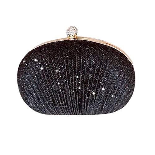 Muium pochette donna elegante borse a tracolla da cerimonia borsa piccola clutch glitter borsetta a mano da sera in tessuto glitterato