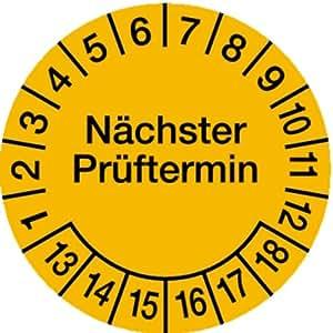 H.Klar Prüfplaketten Nächster Prüftermin ab 17 gelb/schwarz 30mm, 100 Stück