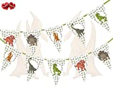 Jurassic Collection - Dinosaurs Mix Theme Bunting Banner 15 Flags For Guaranteed Stylish Amazing party decoration by PARTY DECOR