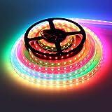 WS2813 Pixel RGB LED Streifen, 5M 300 LED WS2813-C Individuell Adressierbar LED Beleuchtung Streifen, IP67 Wasserdicht 60Leds/M 5050 SMD Flexible LED Streifen Licht DC 5V (Weiß PCB)