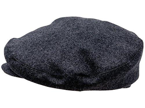 Laine chaud sterkowski large tête flat cap béret-casquette plate style vintage Charbon