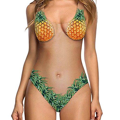 Juleya traje de baño femenino color de la fruta atractivo de una sola pieza mujeres talla grande traje d