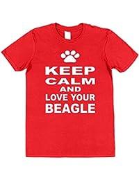 Click My Clobber Mens, T-Shirt, Keep Calm And Love Your Beagle