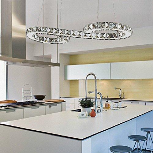 Ouku Crystal-LED-Glühbirne enthalten Anhänger, minimalistisch modernen Metal Plating Pendelleuchten - Kristall/LED - Zeitgenössisch - Wohnzimmer/Esszimmer