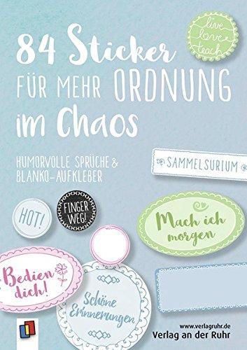 84 Sticker für mehr Ordnung im Chaos