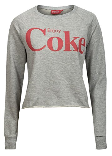 Da donna COCA COLA COKE - Felpa da donna con stampa grafica Cropped Sweat Top Grey Medium